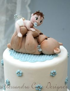 *SORRY, no information as to product used ~ Baptism Cake by Alessandra Cake Designer, via Flickr