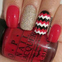cant go wrong with chevron....i have a pair of fuzzy socks on that same exact nail on the ring finger