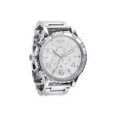 Nixon 51.25mm 51-30 Quartz Chronograph High Polish Stainless Steel Bracelet Watch