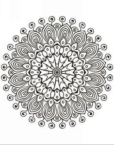 196 Dibujos De Mandalas Para Colorear Faciles Y Dificiles