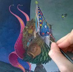 El Gato Chimney painting
