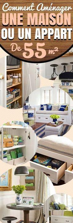 Comment aménager un petit appartement ? Ou, autrement dit, que pouvez-vous faire avec seulement 55 m² ? Voici une liste de solutions super efficaces pour toute la maison : salon, salle de bain, chambre… Ce n'est pas parce que c'est petit que c'est impossible ! Bien sûr, vous ne pouvez pas augmenter de façon magique la taille de votre appartement (sauf si vous abattez les murs de votre voisin), mais avec un peu de bon sens et quelques bonnes...#aménagement #interieur #maison #appartement…