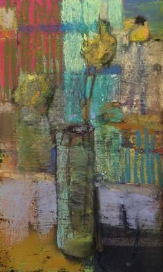 3 Flowers in Absinthe. x Casey Klahn. Acrylic Painting Flowers, Flower Paintings, Pastel Art, Painting Inspiration, Still Life, Abstract Art, Graphite, Artists, Sunflowers