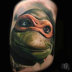 Tatuagem Realista | Tartaruga Ninja