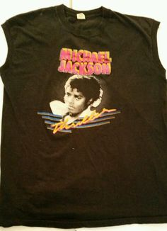 cc70da8d3 Old 1982 Vintage Michael Jackson 1980s Thriller Tank T-shirt Size XL t shirt  Tank
