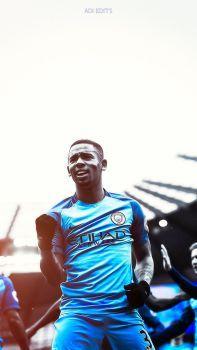 Gabriel Jesus Manchester City Lockscreen Wallpaper by adi-149