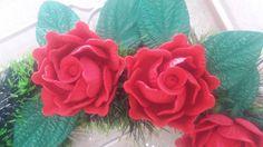 Rosas Conjugadas de E.V.A para Guirlandas