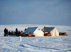 At the northern tip of Ellesmere Island, just 817 kilometres from the North Pole, you'll find the northernmost permanently inhabited place in the world: Alert, Nunavut.The warmest month, July, has a balmy average temperature of 3.4 C (38.1 F).