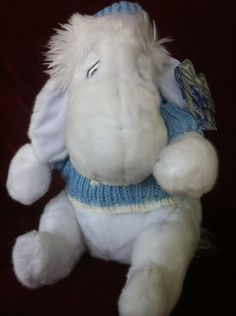 White Eeyore from The Disney Store Exclusive with Tags Adorable Blue Sweater | eBay