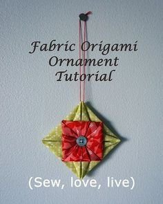 Fabric origami ornament tutorial | Blogged at sy-elsk-lev.bl… | Flickr