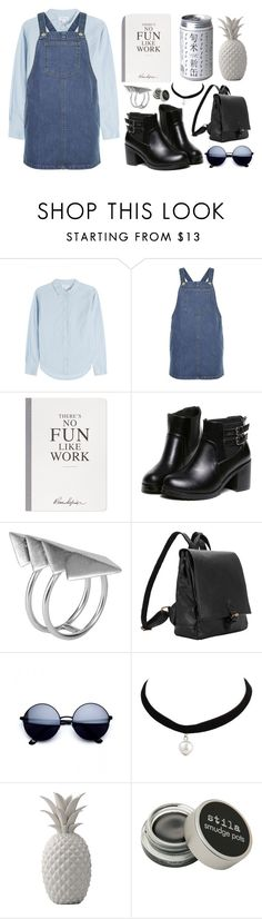 """""""Nerd"""" by mode-222 ❤ liked on Polyvore featuring Velvet, New Look, Selfridges, First People First, Bloomingville and Stila"""