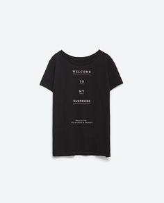 TEXT T - SHIRT - View all - T - shirts - WOMAN | ZARA India