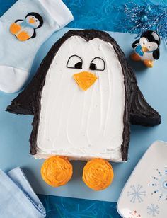 Penguin  cake Grace wants a purple penguin for her birthday cake.  think I found just the pattern to make it cute!