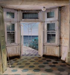 MATTEO MASSAGRANDE, Estate, 2016, Tecnica mista su tavola, 35x33cm #art #contemporaryart #gallery #painting