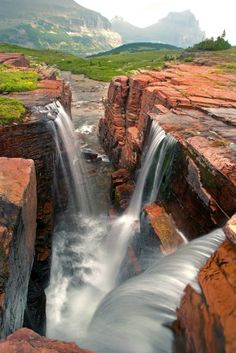 Triple Falls, Glacier National Park, West Glacier, Montana, US