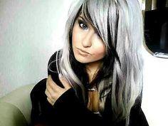 Silver hair really like
