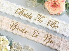 Bachelorette Sash - Bachelorette Party - Bride To Be Sash - Bachelorette Party Accessory - Bridal Shower - Gift For Bride - Lace Sash