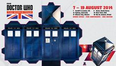 Print out and make your own paper TARDIS here for free.  Doctor Who: The World Tour foldable TARDIS