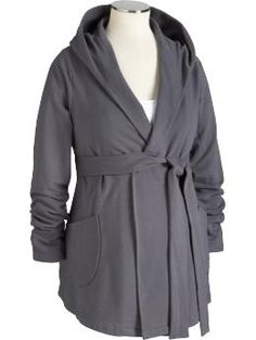 I ordered this ... I envisioned it with a fitted white T, black leggings and a cute pair of tall boots, but I'm thinking it might end up looking like a bathrobe.