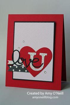 Love U valentine card #stampinup