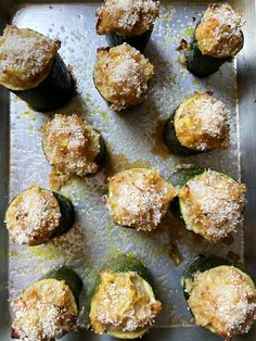 I Tried Twice-Baked Zucchini and It's My New Favorite Summer Appetizer   Kitchn Zuchinni Recipes, Vegetable Recipes, Yummy Appetizers, Appetizer Recipes, Party Appetizers, Dinner Side Dishes, Veggie Dishes, Food Dishes, Cooking Light