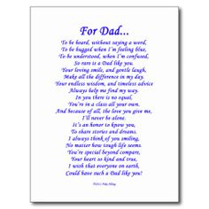 Missing Dad Poems In Heaven Funeral Poems For Dad, Fathers Day Poems, Memorial Poems For Dad, Funeral Quotes, Tattoos For Dad Memorial, Poems About Dad, Memorial Ideas, Funny Funeral Poems, Birthday Poems For Dad