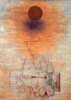 amare-habeo: Paul Klee (Swiss, Bounds of the intellect (Grenzen des Verstandes), 1927 Watercolor and pencil on paper Kandinsky, Art Dégénéré, Abstract Expressionism, Abstract Art, Abstract Paintings, Oil Paintings, Landscape Paintings, Paul Klee Art, Illustration Art
