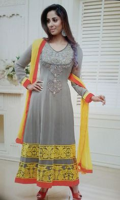Bollywood Style Designer Party Wear Floor Length Anarkali Dress Materials