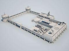 scifi military base02 3d model max obj 3ds fbx 4