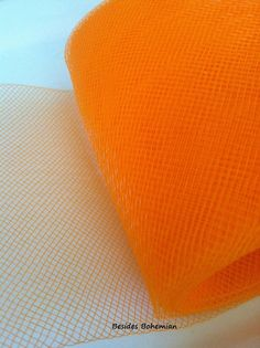 "5 cm Crinoline Trim Neon Orange Horsehair Braid 8 yards Piece  2/"""