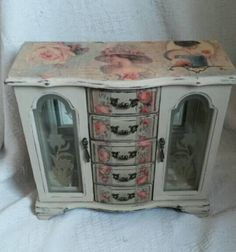 Large jewellery box shabby chic jewelry by victoriasvintagechic