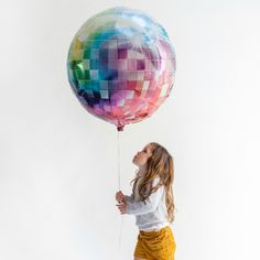 Giant Disco Ball Balloon from Pretty Little Party Shop