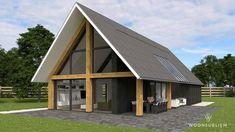 schuur vide overdekt terras Rustic Home Design, Cabin Design, Modern Barn House, Modern House Design, Home Design Floor Plans, Floor Design, Architectural Design Studio, A Frame House, House In The Woods