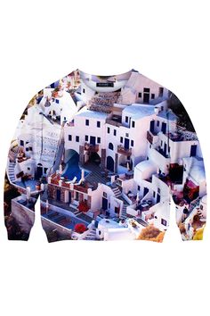 ROMWE | Buildings Print Sweatshirt, The Latest Street Fashion