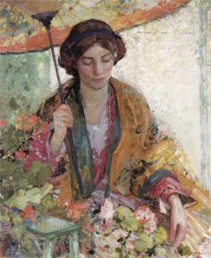 Richard Edward Miller. Pintor Estadounidense.1875 1943. Il Bello e il Buono