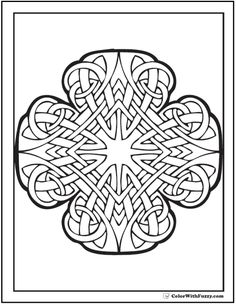 Celtic Coloring Pages at ColorWithFuzzy.com: Radiant Cross Celtic Art Designs