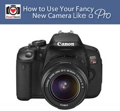 How To Use a DSLR Camera Like A Pro - Great tips and over 50 links to FREE photography tutorials.  iHeartFaces.com