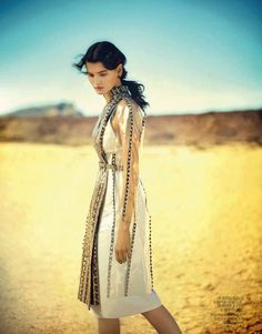 A DESERT MOMENT: KATLIN AAS BY BOO GEORGE FOR VOGUE CHINA APRIL 2013