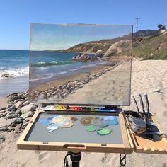 Great Paintings, Landscape Paintings, Painting Inspiration, Art Inspo, Art Hoe Aesthetic, Keramik Design, Elements Of Art, Plein Air, Art Studios