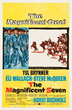 The Magnificent Seven (1960) Directed & Produced by #JohnSturges Based on #SevenSamurai by #AkiraKurosawa #ShinobuHashimoto Starring YulBrynner #EliWallach #SteveMcQueen #CharlesBronson #RobertVaughn #BradDexter #HorstBuchholz #JamesCoburn #TheMagnificentSeven #Hollywood #hollywood #picture #video #film #movie #cinema #epic #story #cine #films #theater #filming #opera #cinematic #flick #flicks #movies #moviemaking #movieposter #movielover #movieworld #movielovers #movienews Hd Movies, Movies And Tv Shows, Film Movie, Horst Buchholz, Elmer Bernstein, Robert Vaughn, Yul Brynner, The Magnificent Seven, Movie Talk