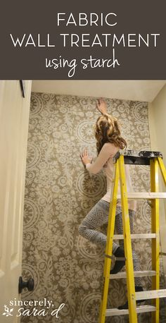 Fabric Wall Treatment Using Starch (Great for anyone who wants the look of wallpaper without the commitment!)