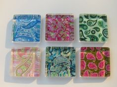 Paisley Fridge Magnets  Fun Mix Refrigerator Magnets by DLRjewelry, $12.00