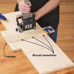 quick, reliable alignment and joining of project parts, nothing beats a biscuit joiner. Woodworking Jointer, Woodworking Plans, Woodworking Projects, Biscuit Joiner, Wood Joinery, Helfer, Wood Tools, Woodworking Techniques, Diy Wood Projects