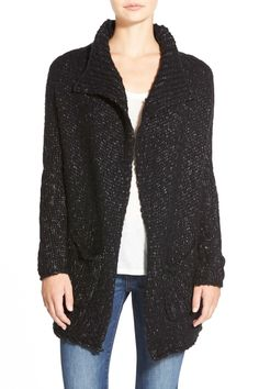 Cozy knits for fall!  Velvet By Graham & Spencer Marled Knit Open Front Wool Blend Cardigan