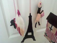 Handmade Cafe de Paris Felt Baby Mobile by KatieBBoutique on Etsy, $65.00