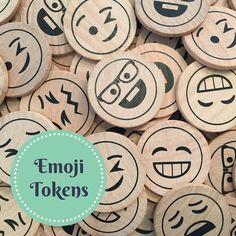 ChimmyChucks (TM) EmojiTokens Wood Emoji Emoticon pcs) with Cotton Bag Classroom Incentives, Classroom Behavior, Classroom Resources, Classroom Management, Pre K Curriculum, Classroom Setting, Craft Show Ideas, Beginning Of School, Cotton Bag