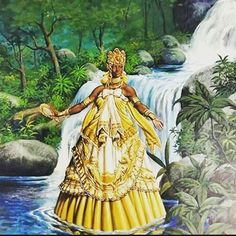 African Mythology, African Goddess, Black Women Art, Black Art, Oshun Goddess, Orishas Yoruba, Yoruba Religion, Esoteric Art, Gods And Goddesses