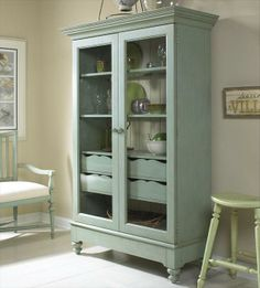 Summer Home Display Cabinet in Sky | Nebraska Furniture Mart