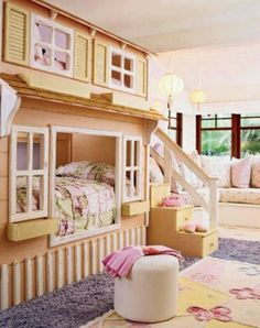 Very cute! Awesome bedroom for little girls