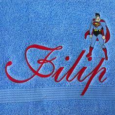 Ručnik s imenom i Supermenom
